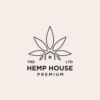 Premium hennephuis vector logo-ontwerp