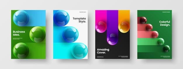 Premium jaarverslag a4 vector ontwerp lay-out set