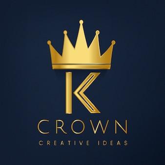 Premium k-kroon merk vector