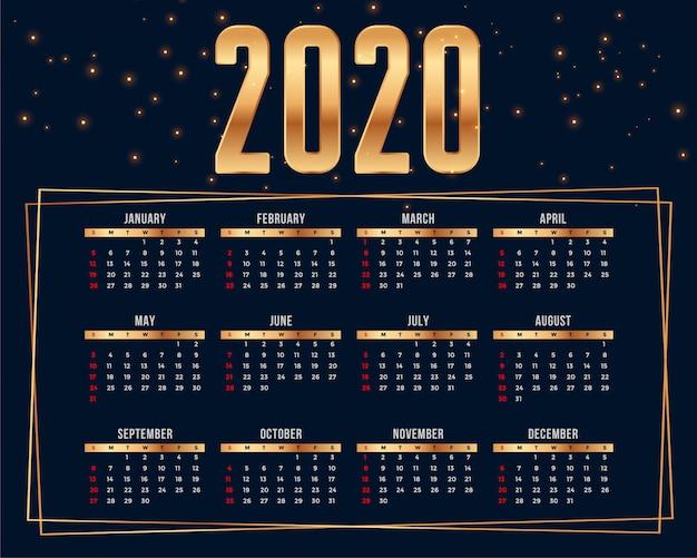 Premium kalender ontwerpsjabloon