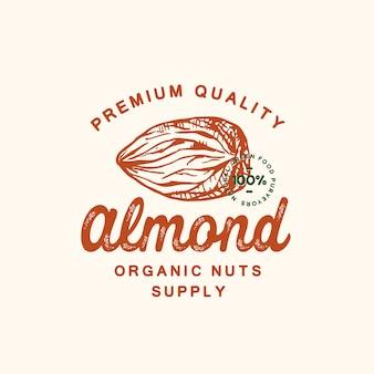 Premium kwaliteit amandel abstract teken