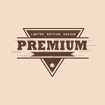 Premium kwaliteit badgeontwerp vector