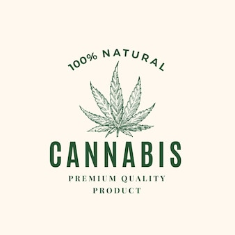 Premium kwaliteit cannabis abstract teken, symbool of logo sjabloon.