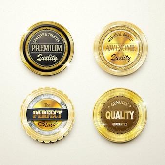 Premium kwaliteit prachtige gouden labels collectie over beige