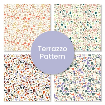 Premium kwaliteit terrazzo patroon set.