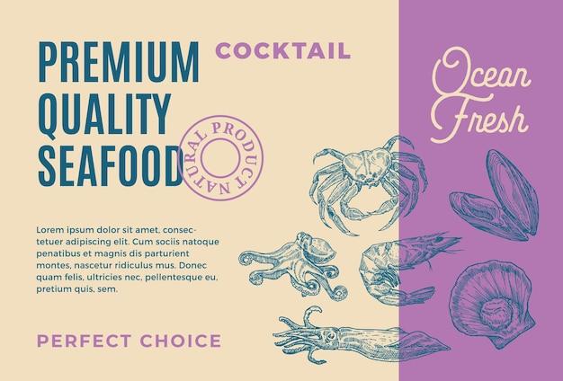 Premium kwaliteit zeevruchtencocktail.