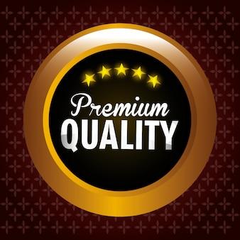 Premium kwaliteitslabel ontwerp.