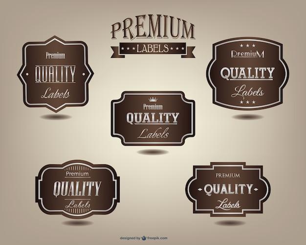 Premium labels set