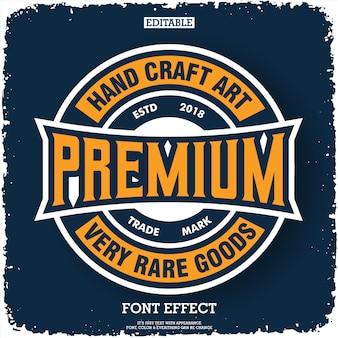 Premium-logo met typografie samenstelling embleem