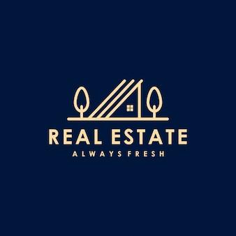 Premium logo-ontwerp voor onroerend goed