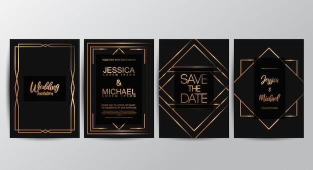 Premium luxe bruiloft uitnodigingskaarten