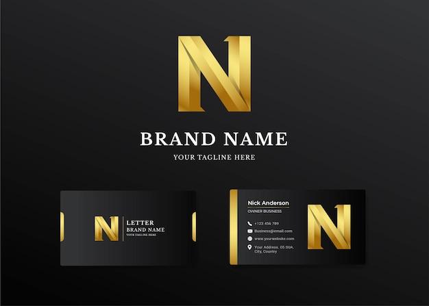 Premium luxe letter k-logo en visitekaartje ontwerp