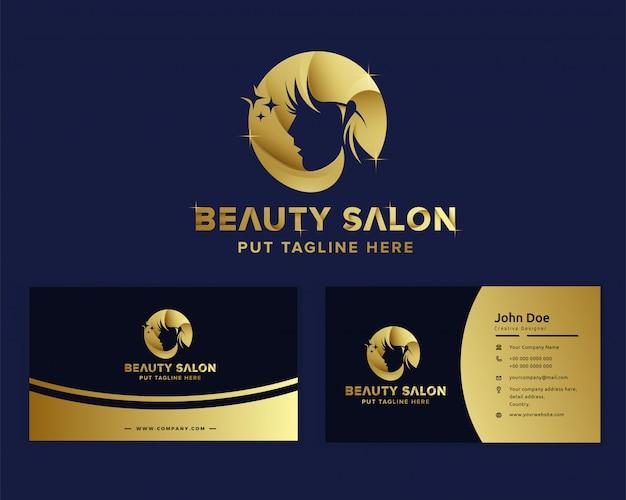 Premium luxe schoonheid vrouwelijk logo sjabloon