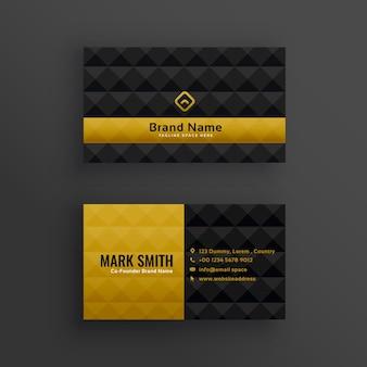 Premium luxe visitekaartje ontwerp met ruitpatroon