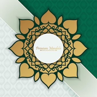 Premium mandala gouden patroonontwerp