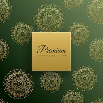 Premium mandala naadloze patroon achtergrond