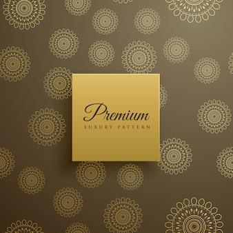 Premium mandala patroon vector achtergrond