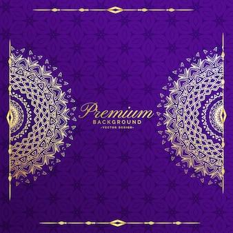 Premium mandala uitnodiging sjabloon achtergrond
