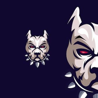 Premium pitbull-mascotte