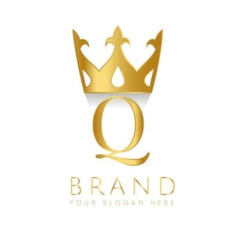 Premium q-merk creatieve vector