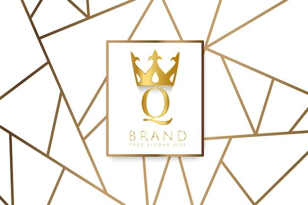 Premium q-merkontwerpvector