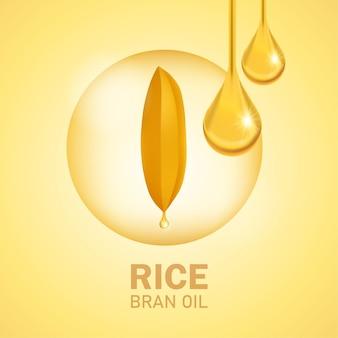 Premium rice ontwerpconcept van hoge kwaliteit.
