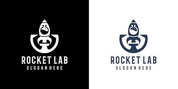 Premium rocket lab-ontwerplogo