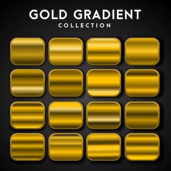 Premium set gouden verloop