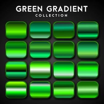 Premium set van groen verloop
