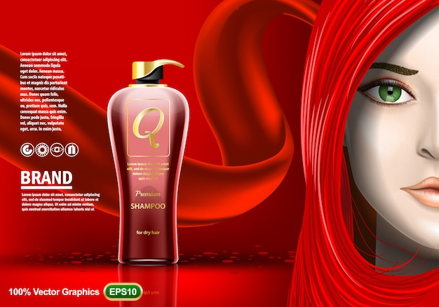 Premium shampoo-advertenties