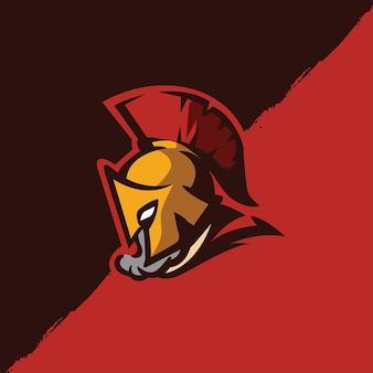 Premium spartaans logo sjabloon - vector afbeelding