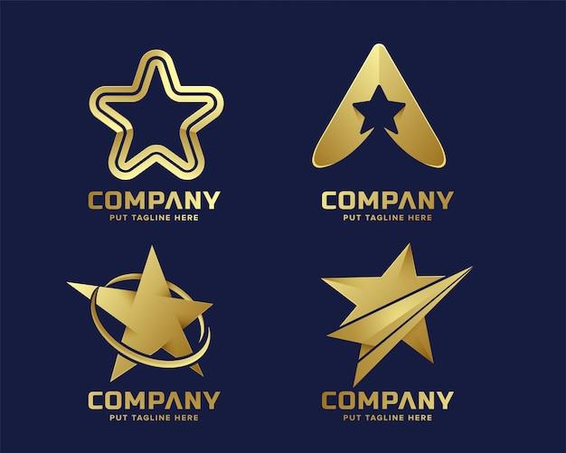 Premium star logo logo template voor bedrijf