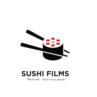Premium sushi film studio movie production logo-ontwerp