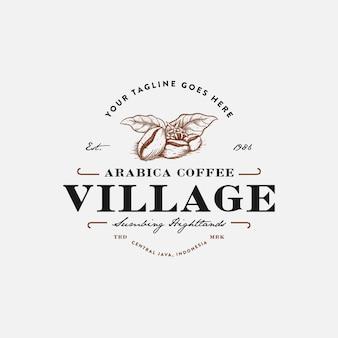 Premium vintage koffie logo inspiratie