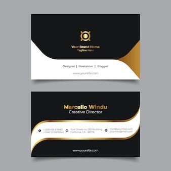 Premium visitekaartje naamsjabloon