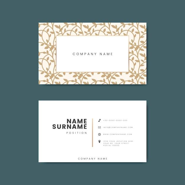 Premium visitekaartje ontwerp mockup