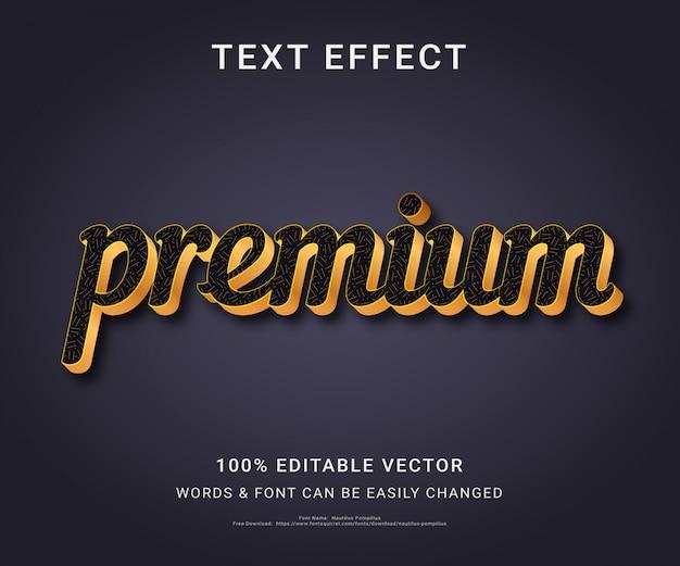 Premium volledig bewerkbaar teksteffect
