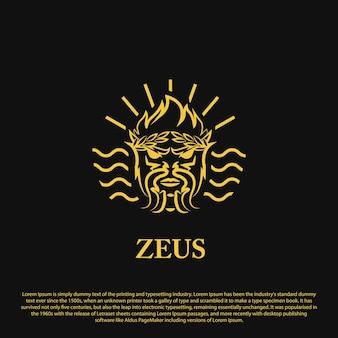 Premium zeus-logo-ontwerp zeus-logo met omtrekstijl voor uw bedrijfsmerk en anderen