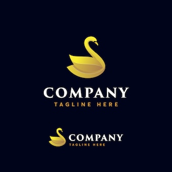 Premium zwaan-logosjabloon