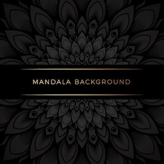 Premium zwarte mandala achtergrond