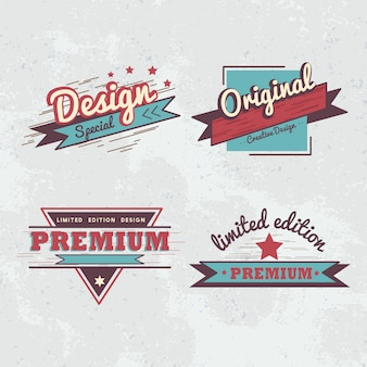 Premiumkwaliteit badge vector set