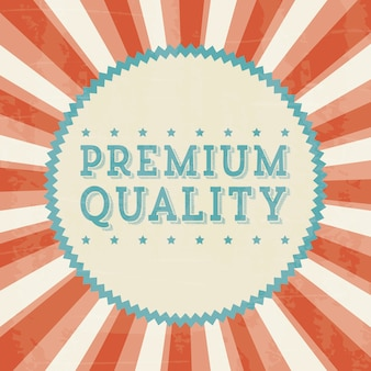 Premiumkwaliteit over beige achtergrond vectorillustratie