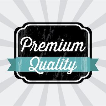 Premiumkwaliteit over grijze achtergrond vectorillustratie