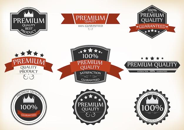 Premiumkwaliteits- en garantieetiketten