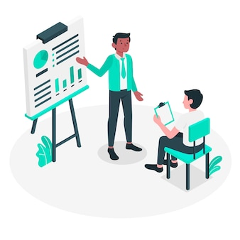 Presentatie concept illustratie