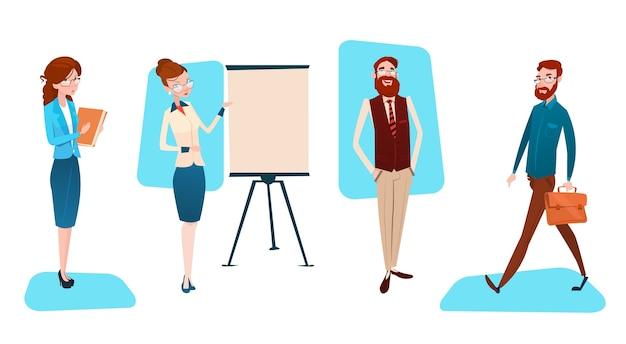 Presentatie flip-over voor bedrijfsmensengroep