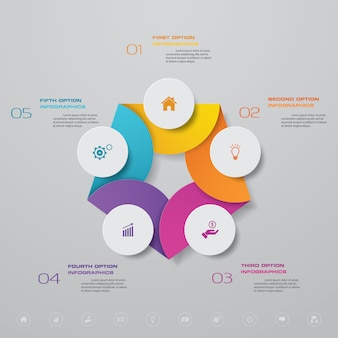 Presentatie grafiek infographic element.