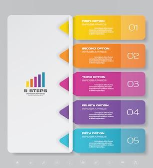 Presentatie grafiek infographic element.