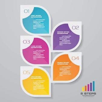 Presentatie grafiek infographic element