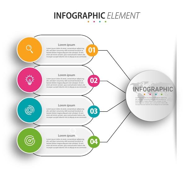 Presentatie infographic ontwerp